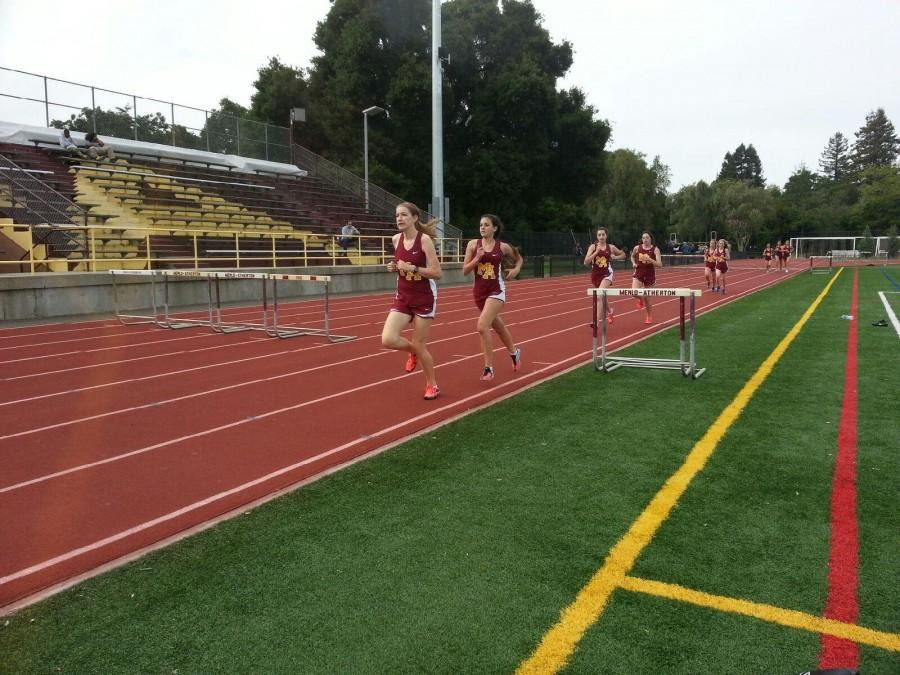 Carlmont had its last track meet before championships. Photo taken by Melanie Hamaguchi.