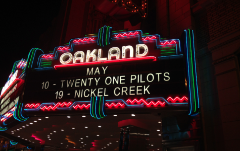 The sign outside The Fox Theater in Oakland.