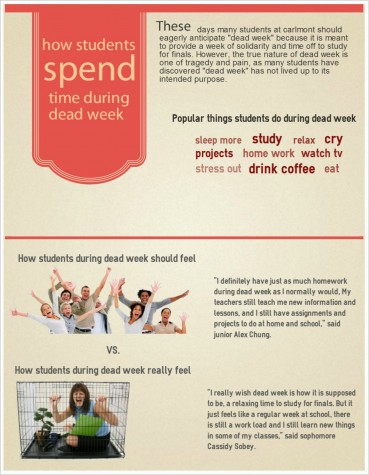 How students spend time during dead week