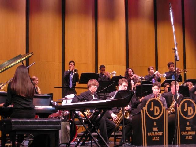 The Carlmont Jazz Ensemble performs