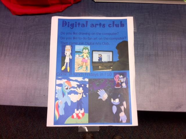 A flyer from the Digital Arts Club