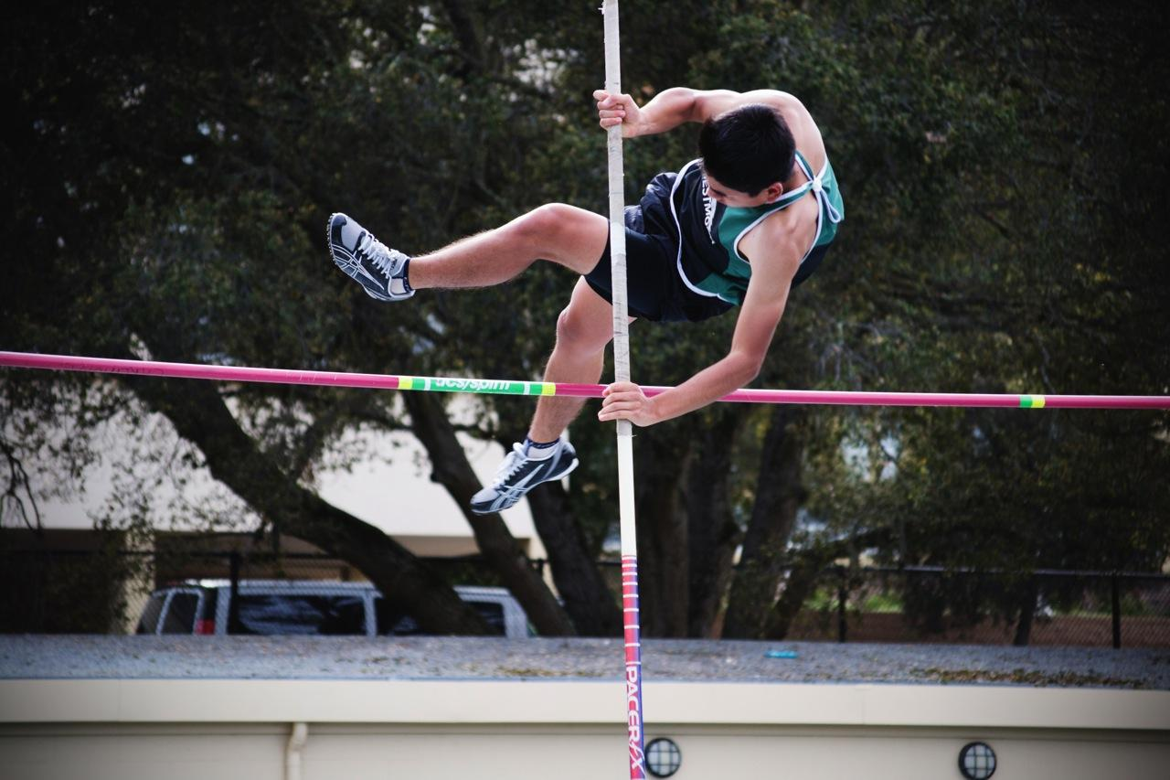 Pole vaulting continues to be a challenge among Carlmont track athletes.