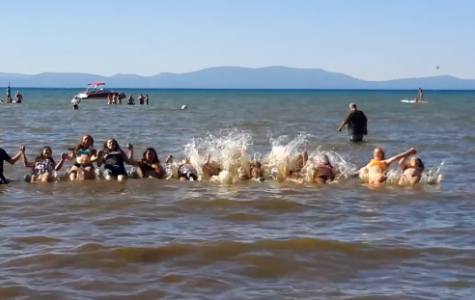 Castro's hockey team puts a Lake Tahoe spin on the ALS Ice Bucket Challenge to conserve water.
