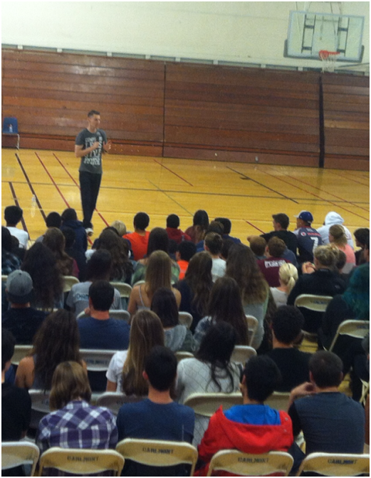 Scott Bachovich talking to the students