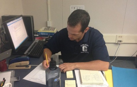 DiCiccio hard at work in his classroom.