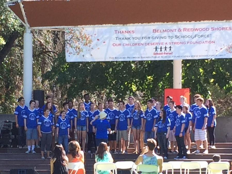 Carlmont choir performs at Save the Music.