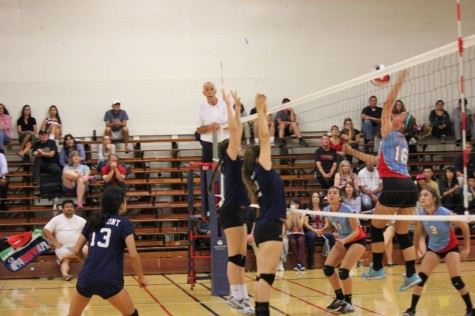 Junior varsity Lady Scots defend their territory
