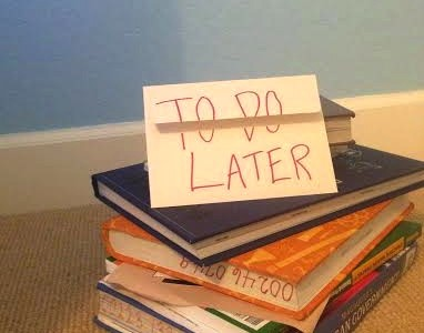 Do students procrastinate because of too much homework?