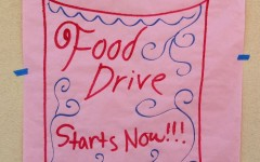 Carlmont food drive poster