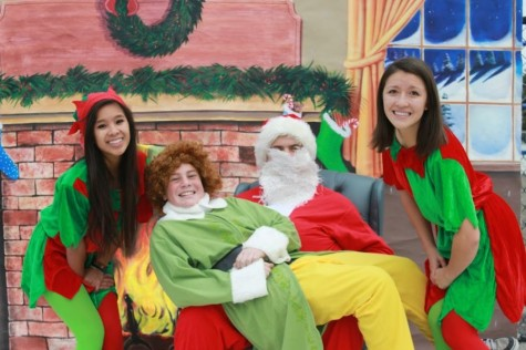 Santa Claus is coming to the quad