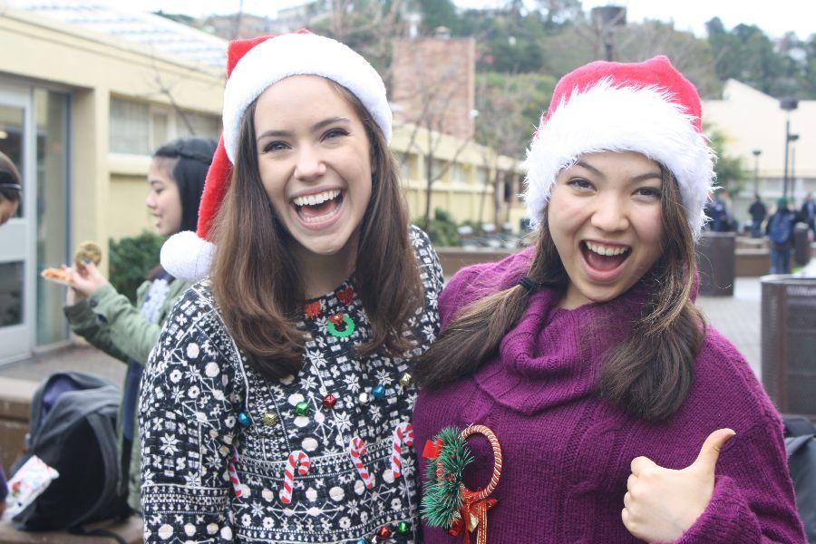 Students prepare for finals while showing their holiday spirit