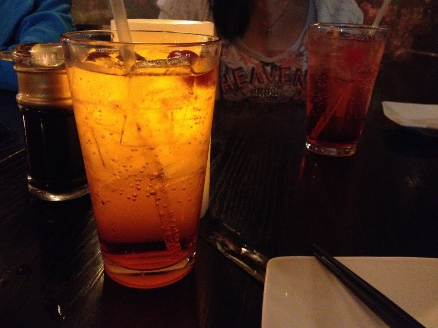 The Shirley Temple was tasty and bubbly.