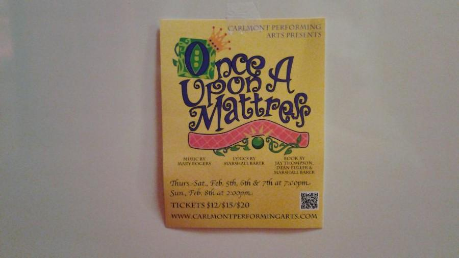 The Technical Theater Association helps put on plays like Once Upon A Mattress.