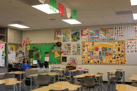 Spanish teacher Rosa Argaluza moved into her new Spanish classroom in early December.