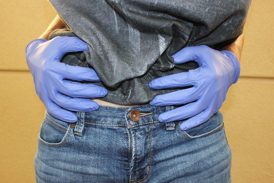 Touching with the front of the hands near sensitive areas is a form of harassment doled out by TSA.