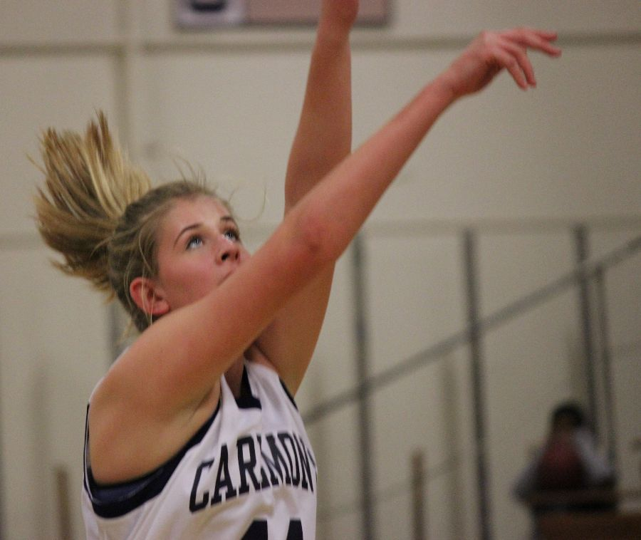 Sophomore+Jen+Dirstine+advances+Carlmont%27s+lead+as+she+scores+off+of+a+free+throw.+%22When+I%27m+shooting+free+throws%2C+I+try+not+to+over+think+it.+I+just+try+to+clear+my+mind%2C+set+my+feet%2C+set+my+elbows+up%2C+and+let+my+shooting+instinct+take+over%2C%22+said+Dirstine.