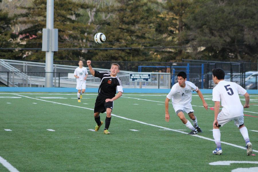 Boys varsity soccer beats Woodside 2-1 on Jan.14.