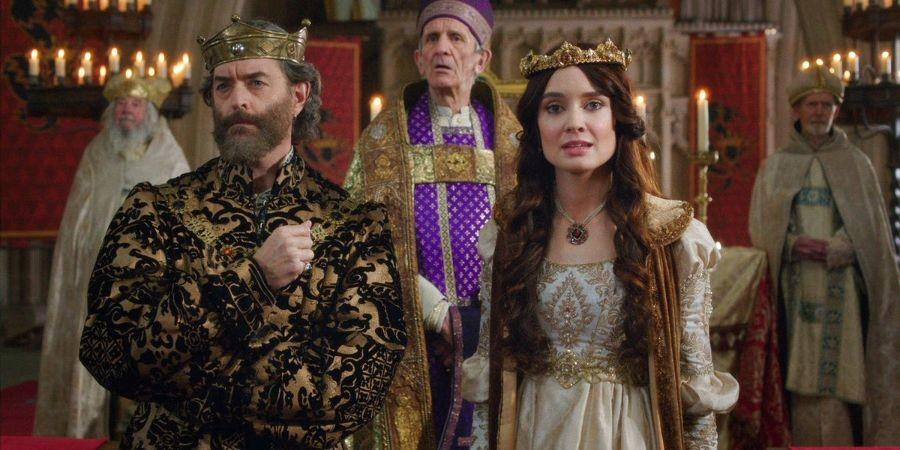 Timothy+Omundson+and+Mallory+Jansen+star+in+the+new+ABC+series+%22Galavant%2C%22+featuring+misguided+heroes+and+raunchy+songs.