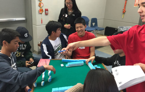 Students gather at this station to play the traditional Chinese game of Mahjong.