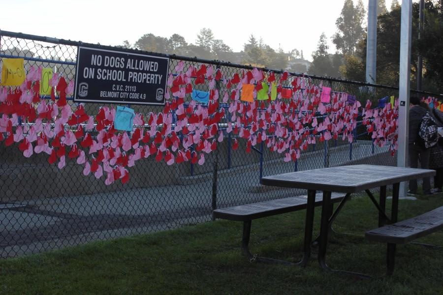 ASB's wall of hearts for Carlmont students gives students the opportunity to feel appreciated on Valentine's Day.
