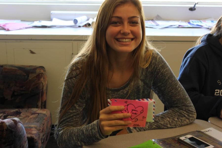 Sophomore Daphne Schwartz received Valentine chocolates.