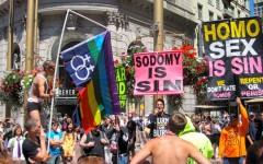 Conservative Christian protestors at a 2006 San Francisco pride event