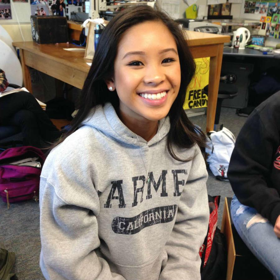 Senior Megan Guillermo was accepted early decision to Cal Poly SLO.