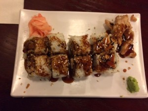 The warm Chicken Teriyaki Rolls were nicely presented and deliciously topped with a strong teriyaki sauce.