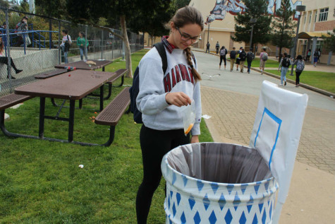 """The point of the basketball garbage cans is to influence students to throw away their trash in a fun, positive manner,"" said leadership class member Matt Irwin."