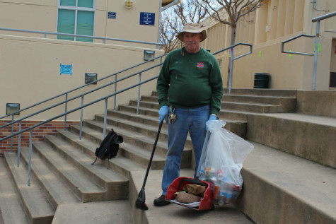"""I am at Carlmont cleaning up garbage from 6:30 a.m. to 3:00 p.m.,"" said school janitor Victor Kottinger."