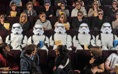 Storm Troopers surprise guests at the premiere of