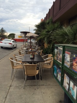 Stack's has seating outside on the side of the restaurant for when warm, sunny days come along.