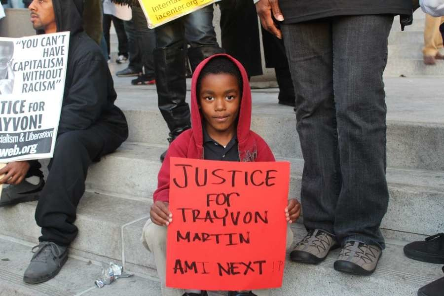 Justice for Trayvon Martin protest LA city hall, March 2012