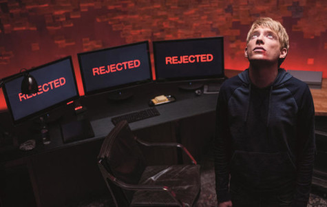 Staring toward He whom he has thwarted, Caleb (Domhnall Gleeson) wishes he could go back and fix his fatal decision.