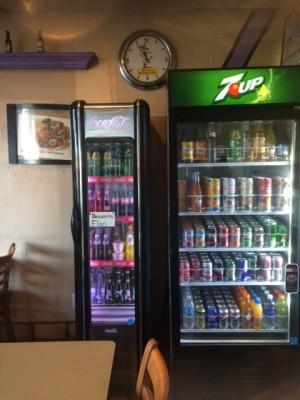 Nikko's vintage refrigerators give the restaurant a retro sort of vibe.