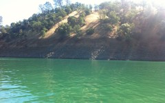Lake Berryessa water levels decrease every year.
