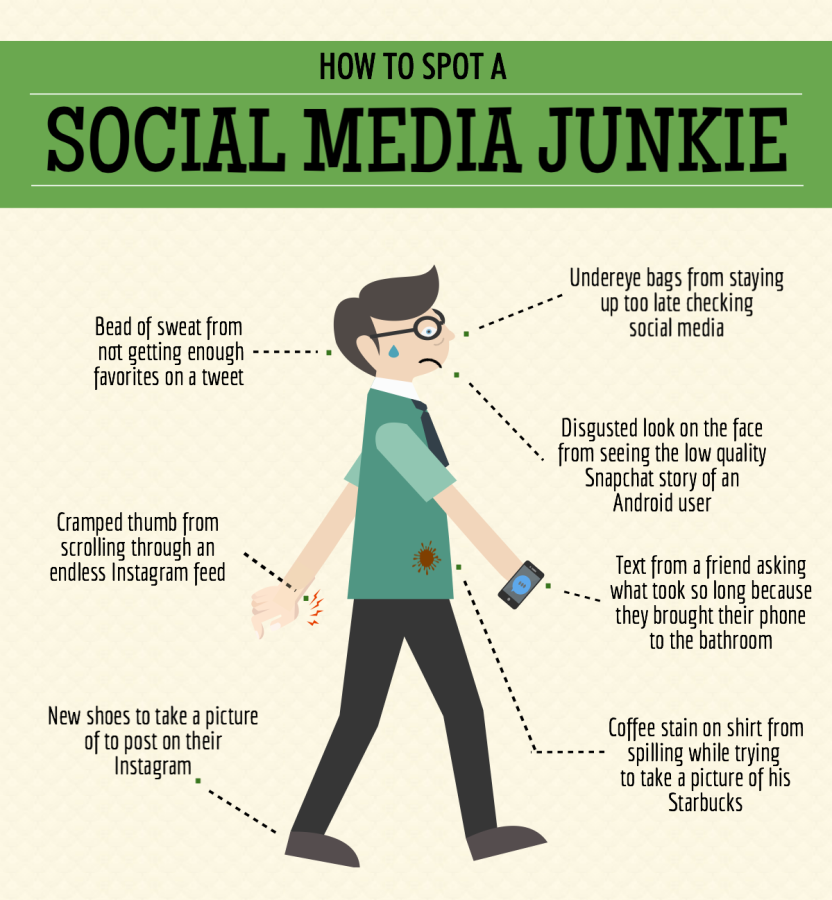 How to spot a social media junkie