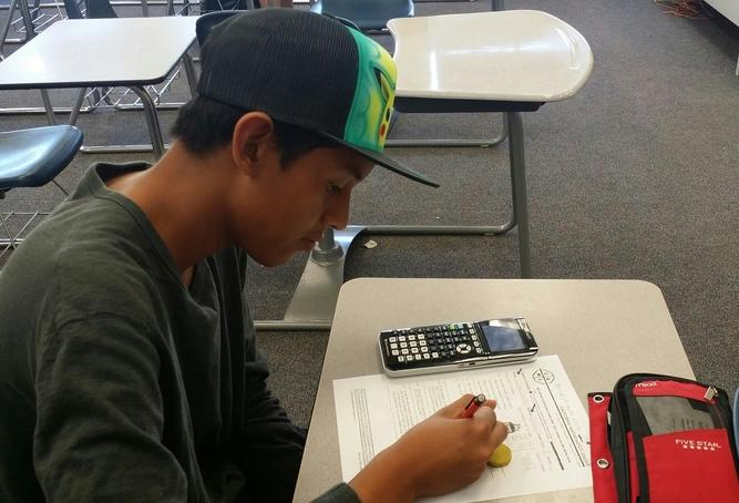 Freshman William Castro-Ramirez attends his first math contest.