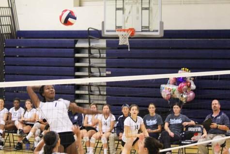 Varsity volleyball has a birthday victory
