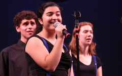 Sophomore Marjan Moshiri performs  a solo in the song