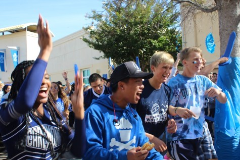 Smiles and noise parade through Carlmont's campus