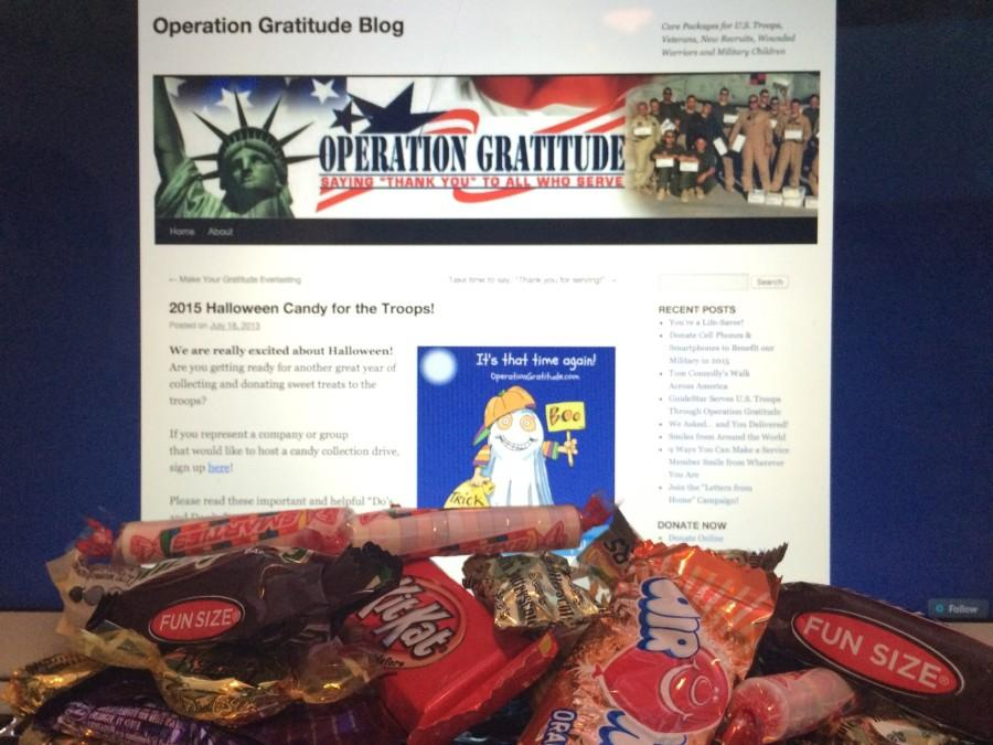 Students donate leftover Halloween candy to show appreciation for veterans.