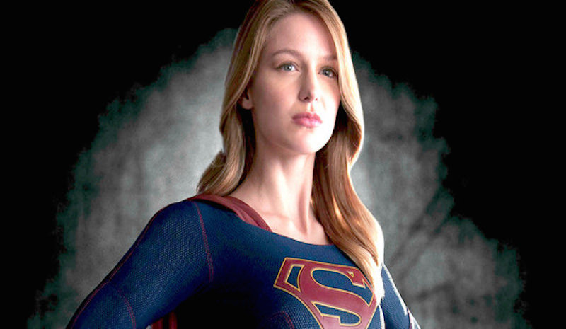 Melissa+Benoist+stands+proudly++as+CBS%27s+Supergirl.