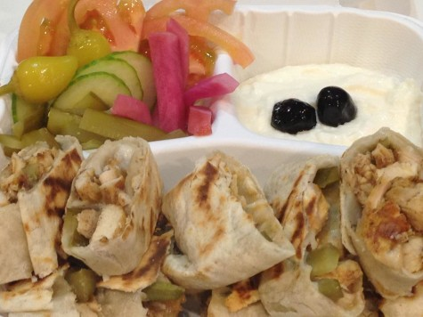 Bursting with color and flavor the chicken shawarma is very delicious