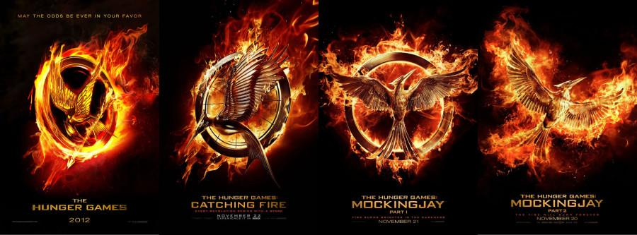 The Mockingjay symbol represents Katniss' liberation from the restrictions of the Hunger Games.