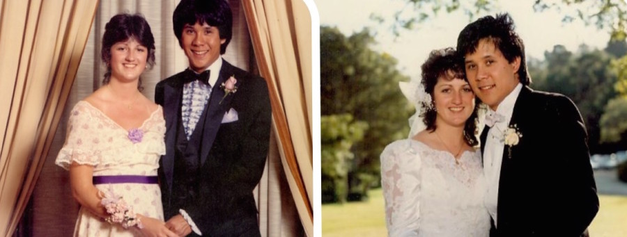 Jackie Perkins and Rob Chang attend their Carlmont prom in 1982, then marry seven years later.