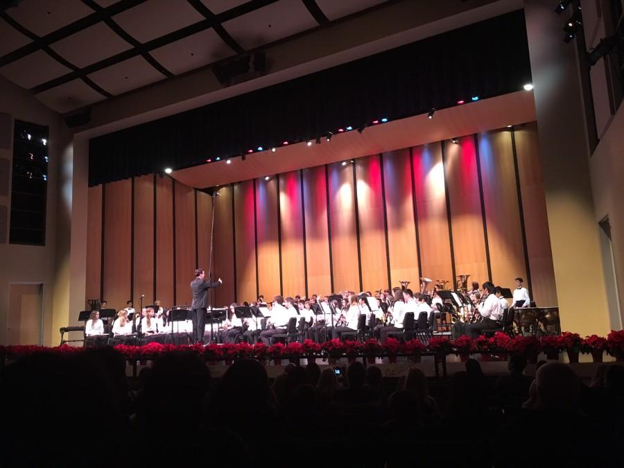 Assistant Music Director Lieven Smart conducts concert bands performance of Loch Lomond.