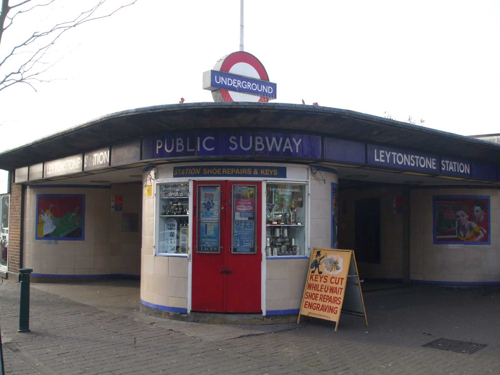 At the Leytonstone Underground Station, a man was accused of murder.
