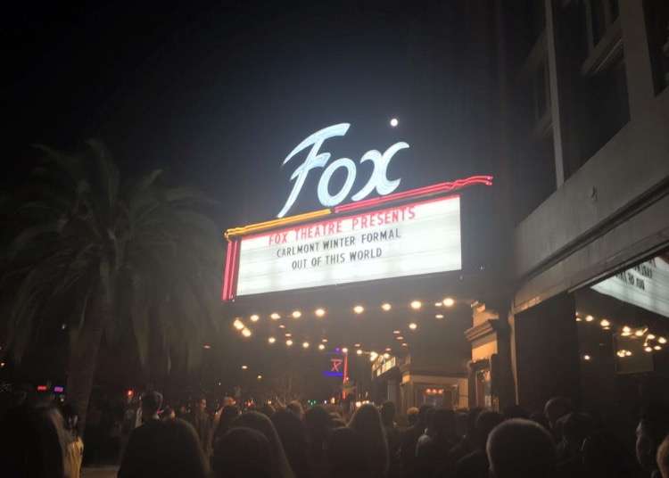 Nearly 1000 Carlmont students piled into the Fox Theater for their Winter Formal.