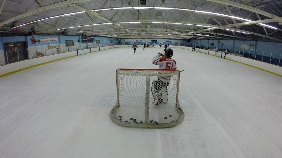 Belmont Iceland is home to hundreds of skaters and activities, including the recreational hockey league in which senior Bobby Goldie plays.